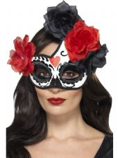 Day Of The Dead Crescent Eye Mask